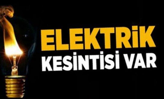 İki bölgede elektrik kesintisi yapılacak