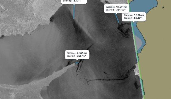 Karpaz açıklarında iki noktada kirlilik