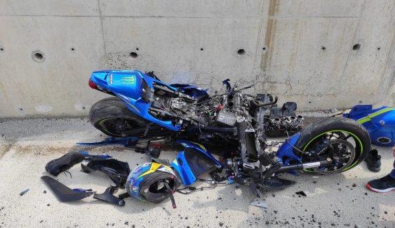 Motosiklet kazasında bir ağır yaralı