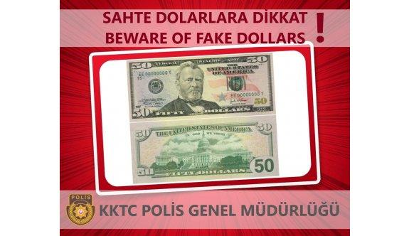 Sahte ABD Dolarlarına dikkat