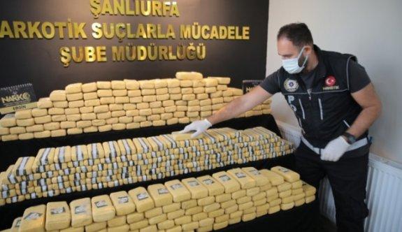 Şanlıurfa'da 275 kilogram eroin ele geçirildi