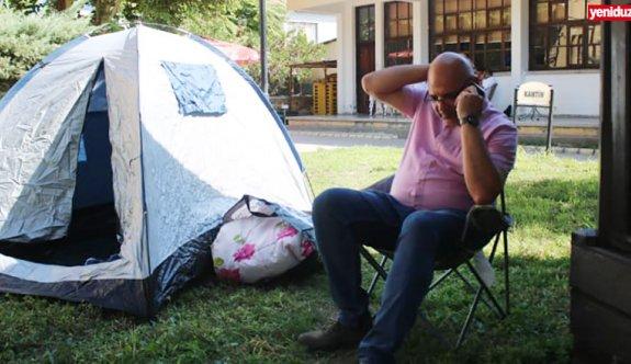 Turizm Bakanlığı'nda çadırlı protesto