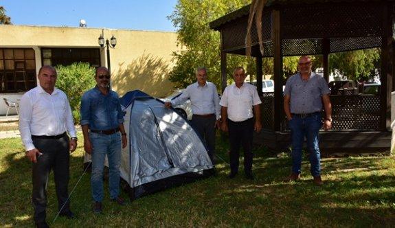 Çadır eylemine dört başkan daha katıldı