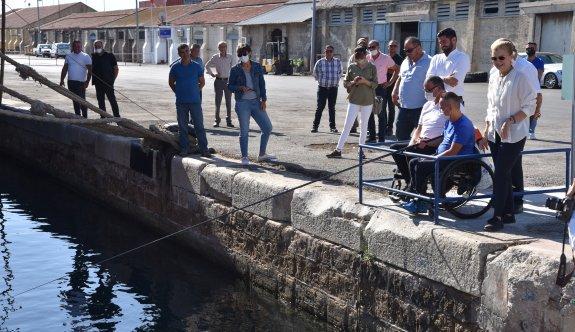 Engelliler limanlarda balık avlayabilecek