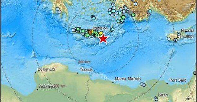 Girit adasının güneydoğusunda büyük deprem