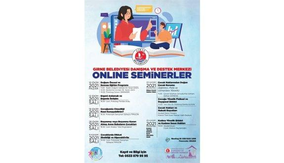 Girne Belediyesi bir dizi çevrim içi seminer düzenliyor