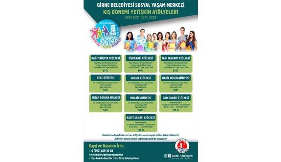 Girne Belediyesi Sosyal Yaşam Merkezi'nin Kurs ve Atölye Programı için kayıtlar başladı