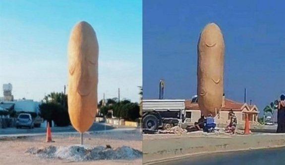Güney'deki dev patates heykeli gündem oldu