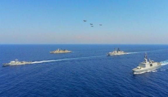 Güney Kıbrıs'tan üç ülkeyle birlikte deniz tatbikatı