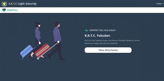 """KKTC'ye gelişlerde AdaPass sitesindeki """"KKTC Yolcusu Giriş Formu""""nun doldurulması zorunlu"""