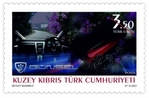 KKTC'nin ilk yerli otomobili GÜNSEL onuruna tasarlanan posta pulları satışa çıkarılıyor