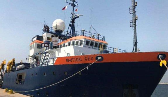 """""""Nautika Geo"""" araştırma gemisi, Larnaka limanına demirledi"""