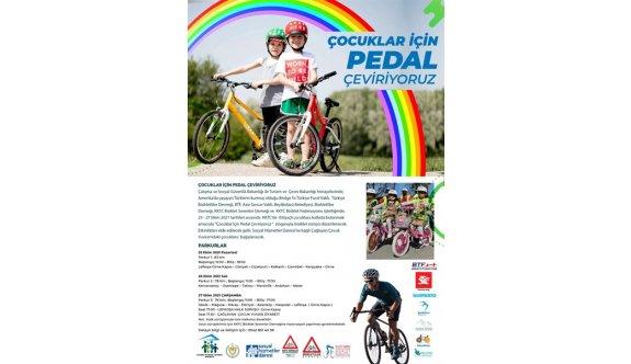 Pedallar Çağlayan Çocuk Yuvası çocukları yararına dönecek