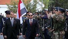 Mısır Cumhurbaşkanı El Sisi Güney Kıbrıs'ta