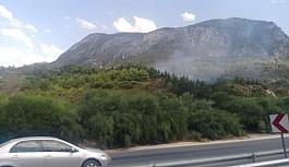 Ciklos'ta yangın korkuttu