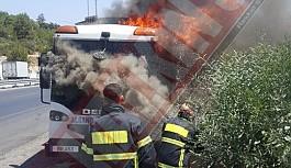 Ciglos Mevkiinde araç  yangını