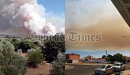 Limasol'a bağlı Prastio köyünde yangın