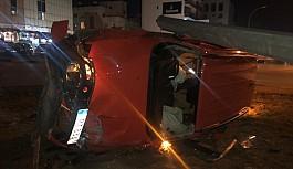 Lefkoşa'daki kaza yürekleri ağza getirdi