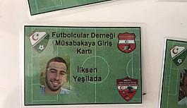 Futbolcuların maçlara giriş kartları hazır