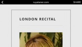 Rüya Taner, Londra'da resital sunacak