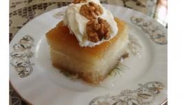 Kıbrıs Usulü Ekmek Kadayıfı Tatlısı