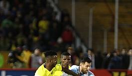Messi attı, Arjantin bileti kaptı