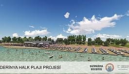 Derinya Halk Plajı açıldı.