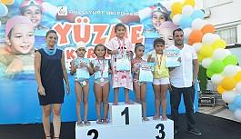 Güzelyurt'ta yüzücüler yarıştı