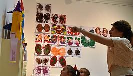 Çocukların eserleri sergileşti