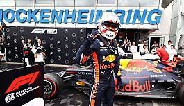 Almanya'da kazanan Verstappen