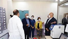 Akıncı'dan Gazimağusa Devlet Hastanesi- DAÜ Moleküler Genetik Araştırma Laboratuvarı'na ziyaret