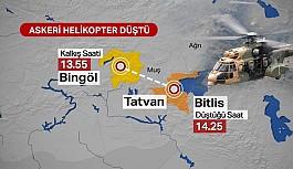 Bitlis'te askeri helikopter düştü: 9 şehit