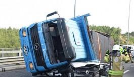Beykoz Kuzey Marmara Otoyolu'nda feci kaza!