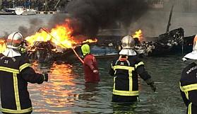 Fransa'da 22 tekne kül oldu