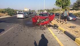 Ters şeride giren kadın sürücü kazaya neden oldu