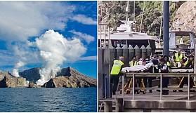 Yeni Zelanda'da Whaakari Yanardağı patladı