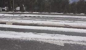 Lefkoşa bölgesinde dolu yağışı etkili oldu
