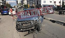 Lefkoşa'nın göbeğinde korkutan kaza