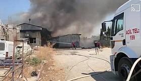 Haspolat kirli sanayi bölgesinde yangın