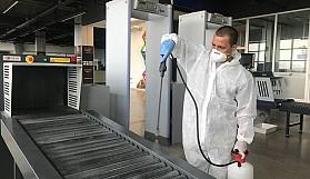 Ercan Havalimanı'nda koronavirüs önlemleri bayram süresince artırıldı