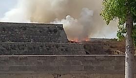 Mağusa Surları'nda yangın