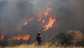 Baf'ın Skulli köyü yakınlarında büyük yangın